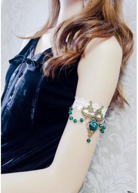 Gemstone White Lace Arm Chains