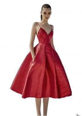 Hanging Red Evening Dress