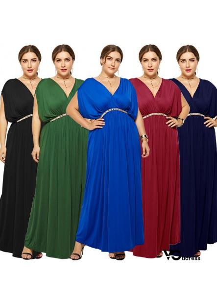 Black V Neck Wrap Sleeveless Casual Maxi Plus Size Dress
