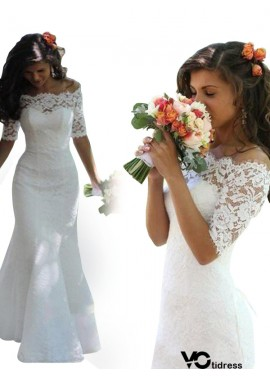 Votidress 2020 Fishtail Winter Lace Wedding Dress