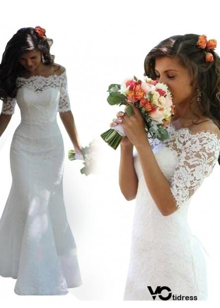 Votidress 2021 Fishtail Winter Lace Wedding Dress