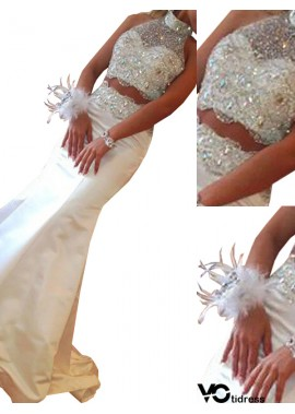 Votidress Two Piece Long Mermaid Long Prom Evening Dress