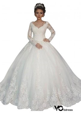 Votidress 2020 Long Sleeve Winter Ball Gowns With Sleeves UK