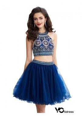 Votidress Sparkly Short 2 Piece Prom Evening Dress