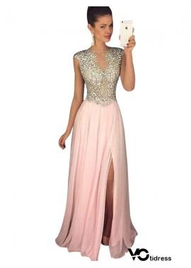 Votidress Pink Long Evening Dress