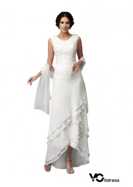 Votidress White Mother Of The Bride Dress With Shawl For Wedding