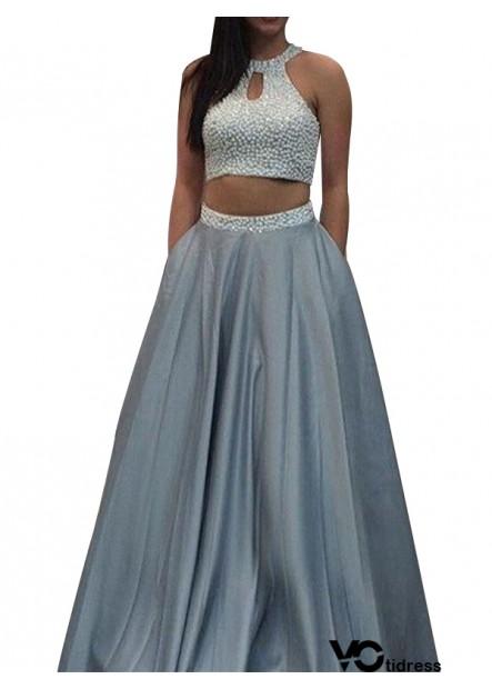 Votidress Two Piece Long Prom Evening Dress