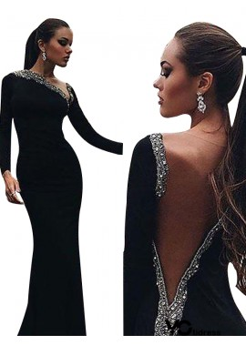 Votidress Black Mermaid Long Evening Dress
