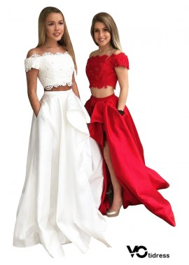 Votidress Two Piece Long Prom Evening Dress