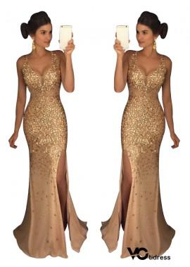 Votidress The Gold Long Prom Evening Dress