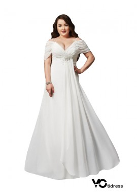 Votidress White Long Plus Size Prom Evening Dress