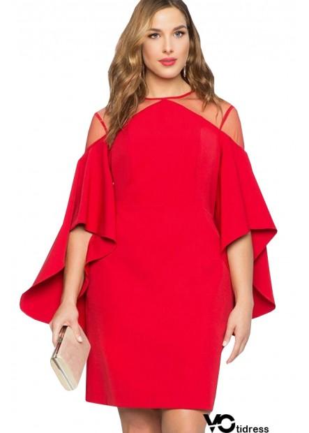 Flare Sleeve Mesh Sexy Bodycon Plus Size Dress