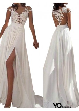 Votidress White Summer Beach Simple Wedding / Evening Dresses