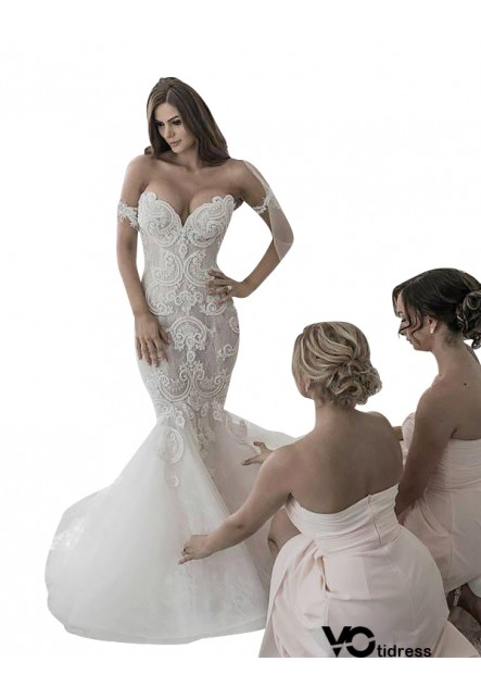 Votidress 2021 Fishtail Winter Wedding Dress Online