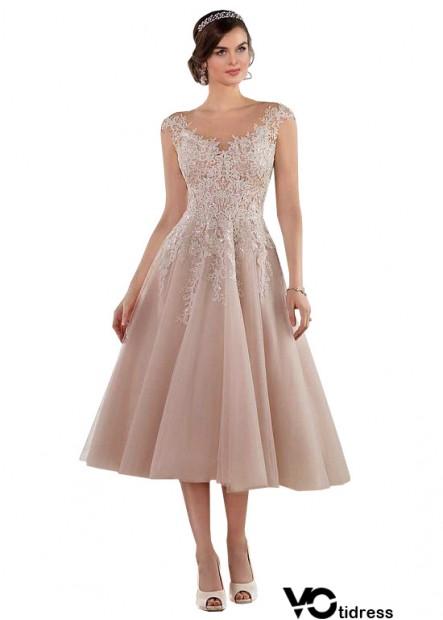 Votidress Short Tea Length Wedding Dress UK Sale
