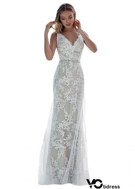 Online Unique Lace Ocean Coast Wedding Dress