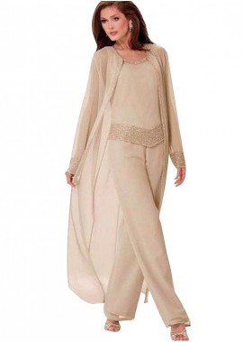 Votidress Mother Of The Bride Dress / Three Pieces Pantsuit With Jacket