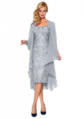 Votidress Cheap Mother of the Bride Dress With Jacket Knee Length