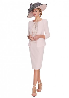 Votidress Mother Of The Bride Dress With Jacket Knee Length