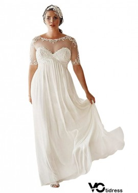 Votidress Simple Plus Size Wedding Dress