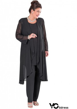 Votidress Black Mother Of The Bride Dress/Pantsuit With Outfit Plus Size