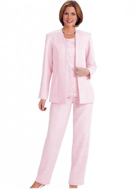 Votidress Pink Mother Of The Bride Dress / Three Piece Pantsuit