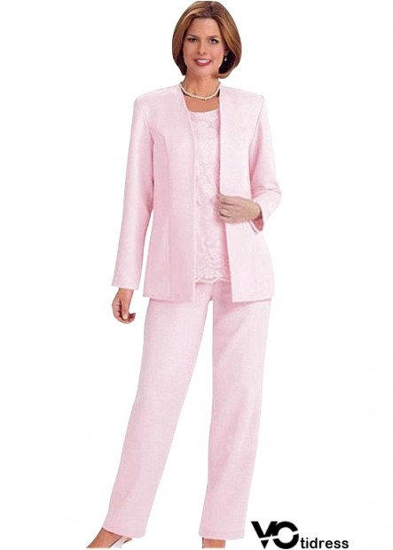 Votidress Pink Mother Of The Bride Dress / Three Piece Pantsuit