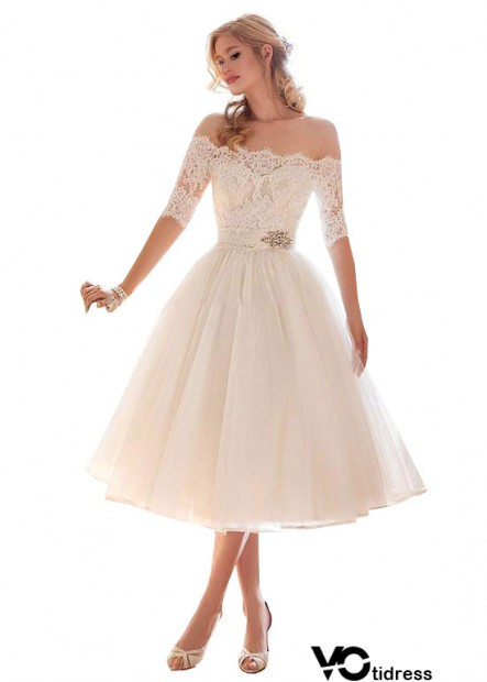 Votidress Lace Beach Short Wedding Dresses With Sleeves