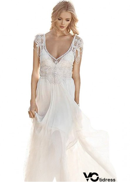 Votidress Unusual Unique Boho Princess Beach Wedding Dresses