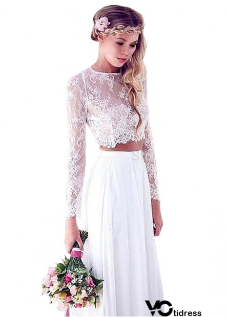 Non Traditional Unique Beach Long Sleeve Wedding Dresses UK Sale